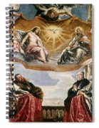 The Trinity Adored By The Duke Of Mantua And His Family Spiral Notebook