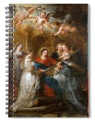 The Triptych Of Saint Ildefonso Altar Spiral Notebook