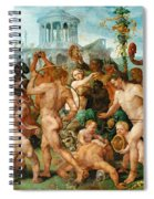 The Triumphal Procession Of Bacchus Spiral Notebook