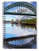 The Tyne Road Bridge With The Sage Spiral Notebook