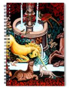 The Unicorn Purifies The Water Spiral Notebook
