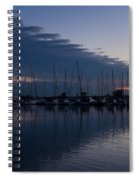The Urge To Sail Away - Violet Sky Reflecting In Lake Ontario In Toronto Canada Spiral Notebook