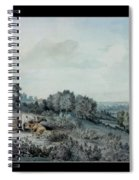 The Valley Of The Stour, Looking Towards East Bergholt, 1880 Pencil, Pen And Ink And Watercolour Spiral Notebook