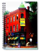The Venice Cafe' Edited Spiral Notebook