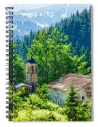 The Village Church - Impressions Of Mountains And Forests Spiral Notebook