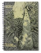 The Vintage Peacock Spiral Notebook