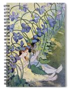 The Violets Lively Flowers Spiral Notebook