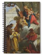 The Virgin And Child Appearing To A Group Of Saints Spiral Notebook