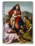 The Virgin And Child Between Saint Matthew And An Angel Spiral Notebook