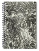 The Virgin And Child Surrounded By Angels Spiral Notebook
