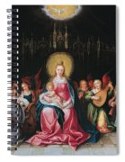 The Virgin And Child Surrounded Spiral Notebook
