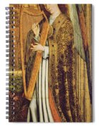 The Virgin And Child With Angels, Right Hand Panel Depicting An Angel Musician Oil On Panel Spiral Notebook
