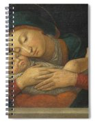 The Virgin And Child With Four Saints Spiral Notebook