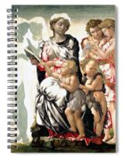 The Virgin And Child With Saint John And Angels Spiral Notebook