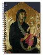 The Virgin And Child With Six Angels Spiral Notebook