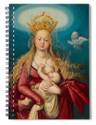 The Virgin As Queen Of Heaven Suckling The Infant Christ Spiral Notebook