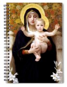 The Virgin Of The Lilies Spiral Notebook