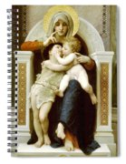 The Virgin The Baby Jesus And Saint John The Baptist Spiral Notebook