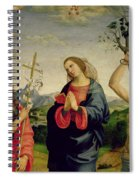 The Virgin With Saints Sebastian And John The Baptist Spiral Notebook