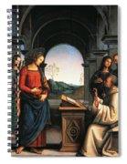 The Vision Of St Bernard Spiral Notebook