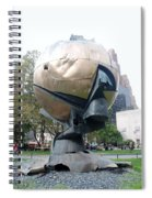 The W T C Fountain Sphere Spiral Notebook