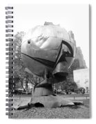The  W T C Plaza Fountain In Black And White Spiral Notebook
