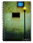 The Wall And The Lamppost Spiral Notebook