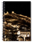 The Walls Of Albarracin In The Summer Night Spain Spiral Notebook