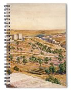 The Walls Of Jerusalem, 1869 Spiral Notebook