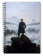 The Wanderer Above The Sea Spiral Notebook