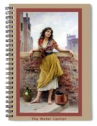The Water Carrier Poster Spiral Notebook