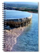 The Water With White Paint Spiral Notebook