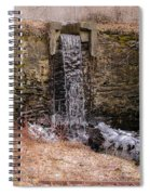 The Waterfall At Hagy's Mill Spiral Notebook