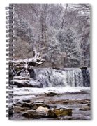 The Waterfall Near Valley Green In The Snow Spiral Notebook