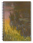 The Waterlilies At Setting Sun Spiral Notebook