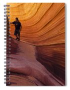 The Wave Beauty Of Sandstone 1 Spiral Notebook