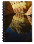 The Wave Reflected Beauty 3 Spiral Notebook