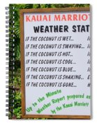 The Weather Report Spiral Notebook