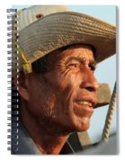 The Weathered Face Of An Ox Cart Driver Spiral Notebook