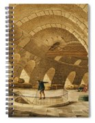 The Wheat Store, Rue De Viarmes, Engraved By I. Hill Coloured Engraving Spiral Notebook