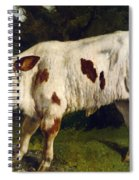 The White Calf Spiral Notebook