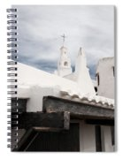 Binibeca Vell In Menorca Is A Small Fishermen Villa With The Taste Of Past Times - The White Chapel Spiral Notebook