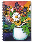 The White Daisy Spiral Notebook