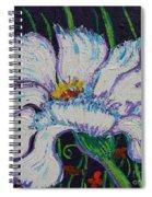 The White Flower Spiral Notebook