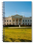 The White House In Washington Dc With Beautiful Blue Sky Spiral Notebook