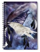 The White Raven Spiral Notebook