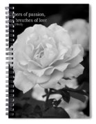 The White Rose Breathes Of Love Spiral Notebook