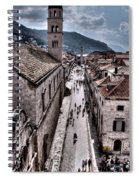 The White Tower In The Stradun From The Ramparts Spiral Notebook