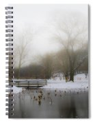 The Willows In Winter - Newtown Square Pa Spiral Notebook