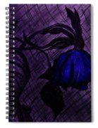 The Wilted Blue Rose Spiral Notebook